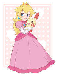 Princess Peach - Plusle Hug by chocomiru02