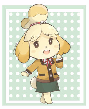 Animal Crossing - Isabelle Winter Look