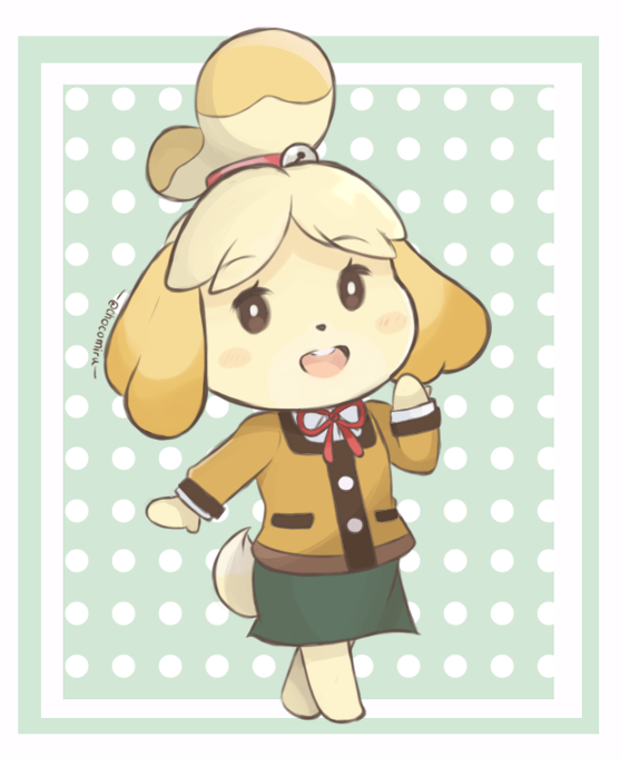 Animal Crossing - Isabelle Winter Look