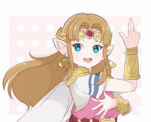 Smash Ultimate - Zelda by chocomiru02