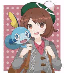 Pokemon Sword and Shield - Gloria and Sobble