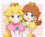 Princess Peach and Princess Daisy - Couple Shot