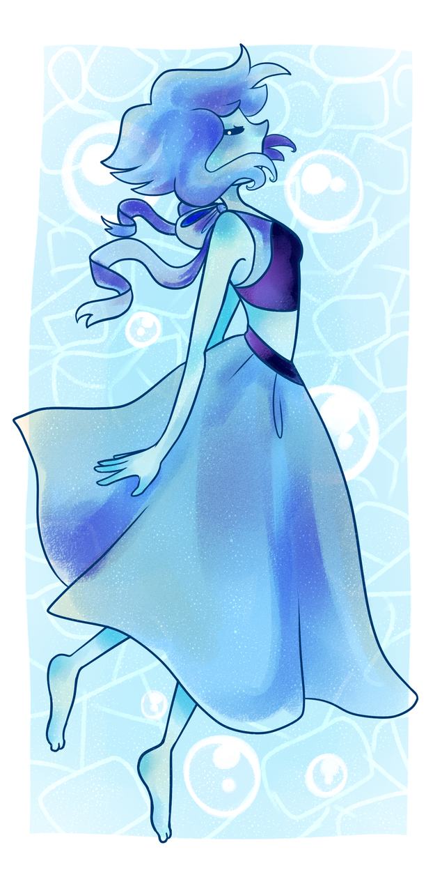 oH HEY MORE FANART OF THINGS She was fun to draw yes ;v; and the recent episode was great hnng Lapis Lazuli (c) Steven Universe