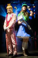 Luigiana and Prince Peach by Miharichu-Emi