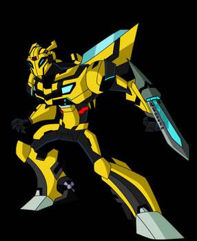 Cyberforce Artwork-Bumblebee pose:1