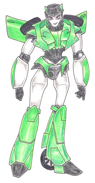 FemBotCar Coloured by Rose-Hunter