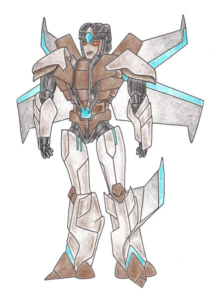 Transformers Prime - Copperfire (Coloured) by Rose-Hunter