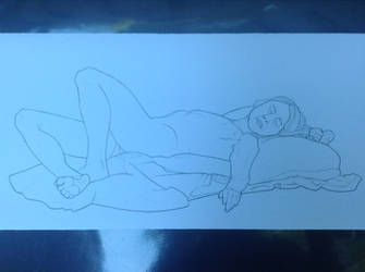 Life-Drawing Class - Nude Woman 2 by Rose-Hunter