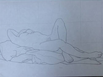 Life-Drawing Class - Nude Woman 3 by Rose-Hunter