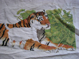 Counted Cross-Stitch WIP right side