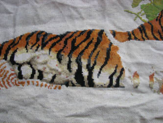Counted Cross-Stitch WIP middle