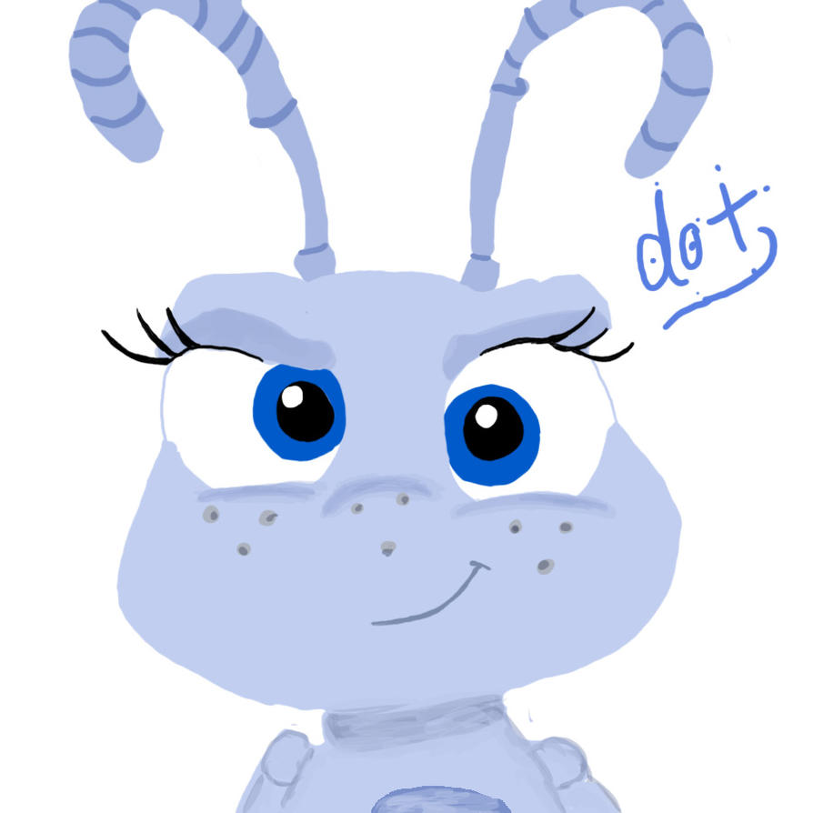 It is a graphic of Superb A Bugs Life Dot
