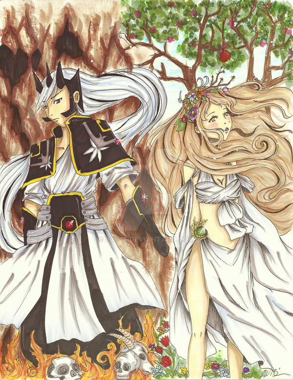 Hades and Persephone Coloured by Loilie