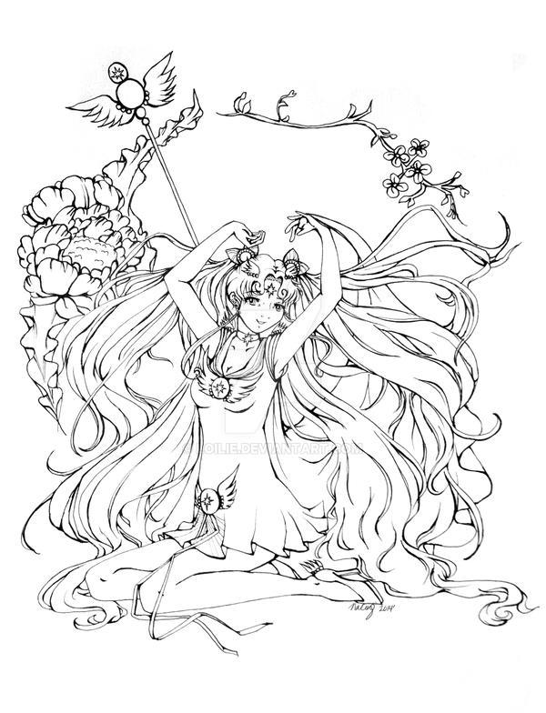Sailor Cosmos Fanart by Loilie