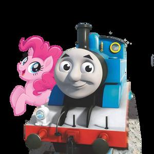 Thomas The Tank Engine and Pinkie Pie (vector)