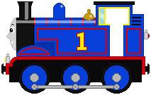 Thomas The Tank Engine (MLP style) sprite