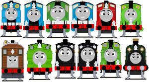 No. 1-12 engines' headcodes sprites