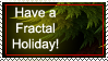 Fractal Holiday Stamp by Trenton-Shuck