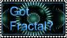Got Fractal? stamp