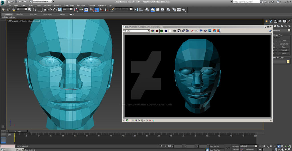 Face Polygon Modelling (preview) part 4 by NeutralHumanity