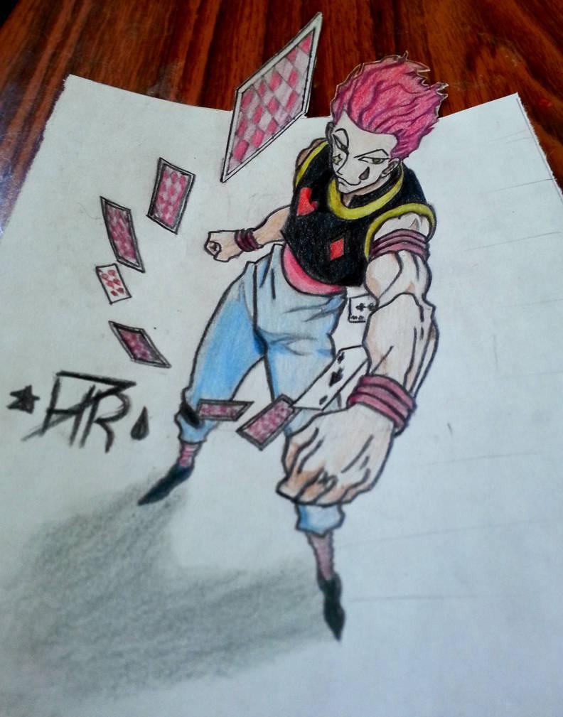 Hisoka 3d drawing by hr7xman