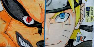 Naruto x Kurama Drawing