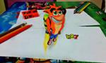 Crash Bandicoot 3D drawing