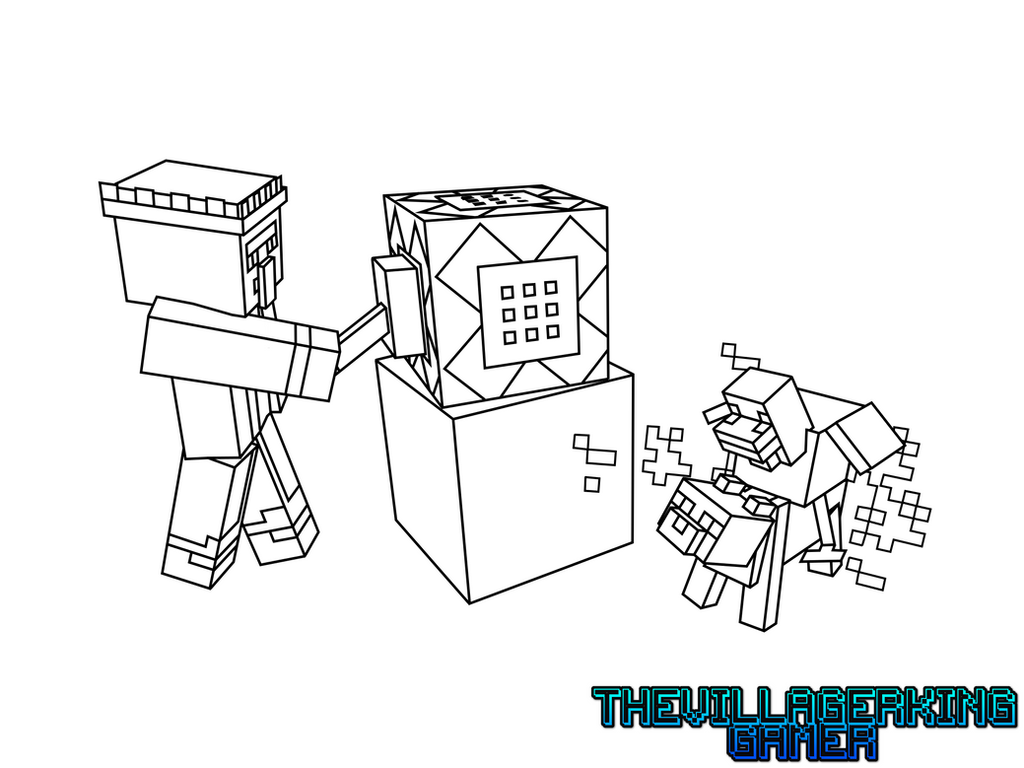 Diamond Block From Minecraft - Free Coloring Pages