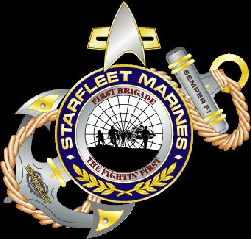 Starfleet marine Corps First marine Brigade Logo by starshipdriver