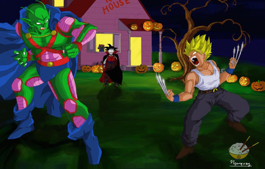 dragon ball halloween 2 piccolo and gohan