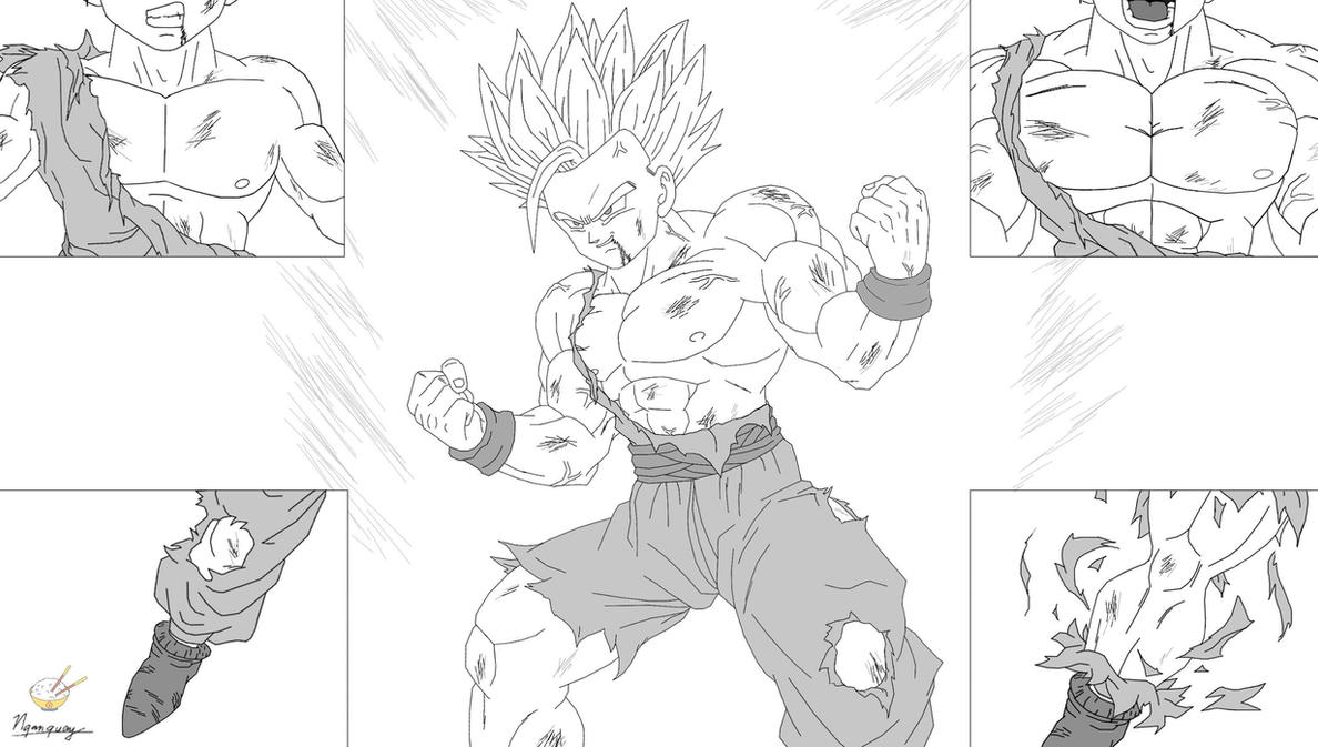 Dragon Ball - Gohan 57 - USSJ2 (P2) by songohanart
