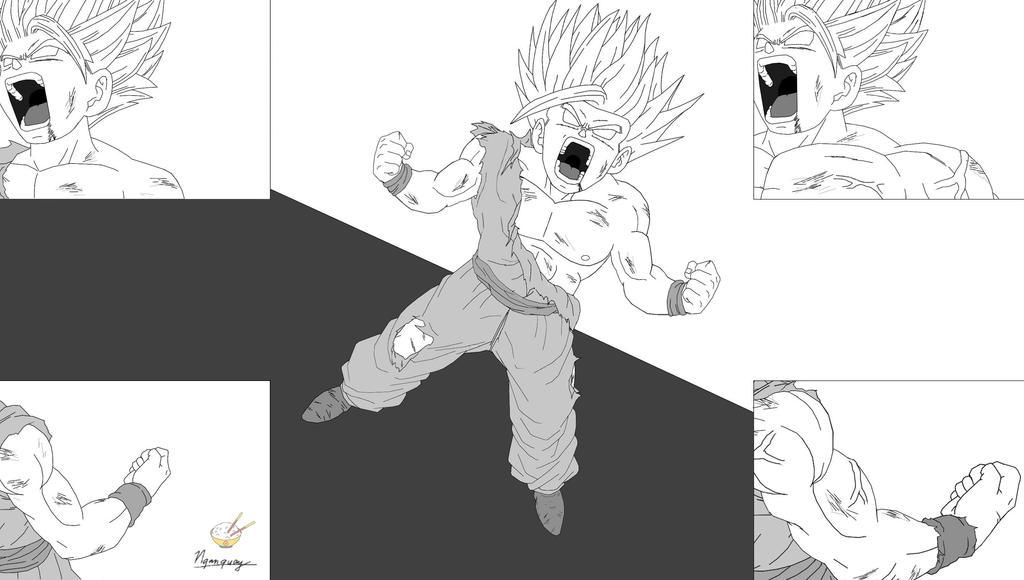 Dragon Ball - Gohan 56 - USSJ2 (P1) by songohanart