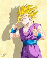 Dragon Ball - Gohan 74 (Teen Gohan artist :D) by songohanart