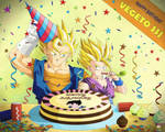 Dragon Ball - GOHAN 85 - HAPPY BIRTHDAY VEGETTO