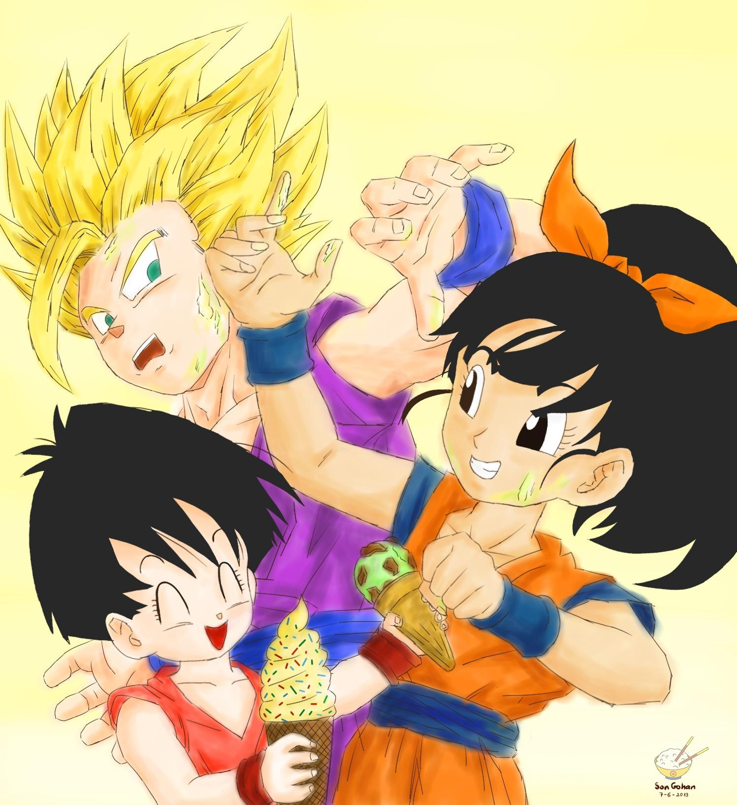 gohan and videl having teen