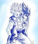 Dragonball - Gohan 100 (Vegetto and Gohan 3)