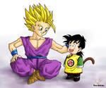 Dragonball - Gohan 118 (Teen Gohan  and Kid Gohan)