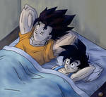 Dragon Ball - Gohan 115 (vegeto , Gohan sleeping)