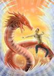 Ghatotkacha V Dragon (colored)