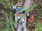A fallen Gundam by cdarkwolf