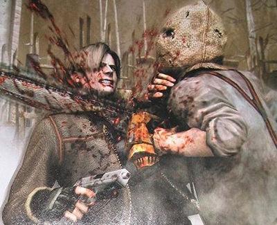 resident evil 4 wallpaper chainsaw