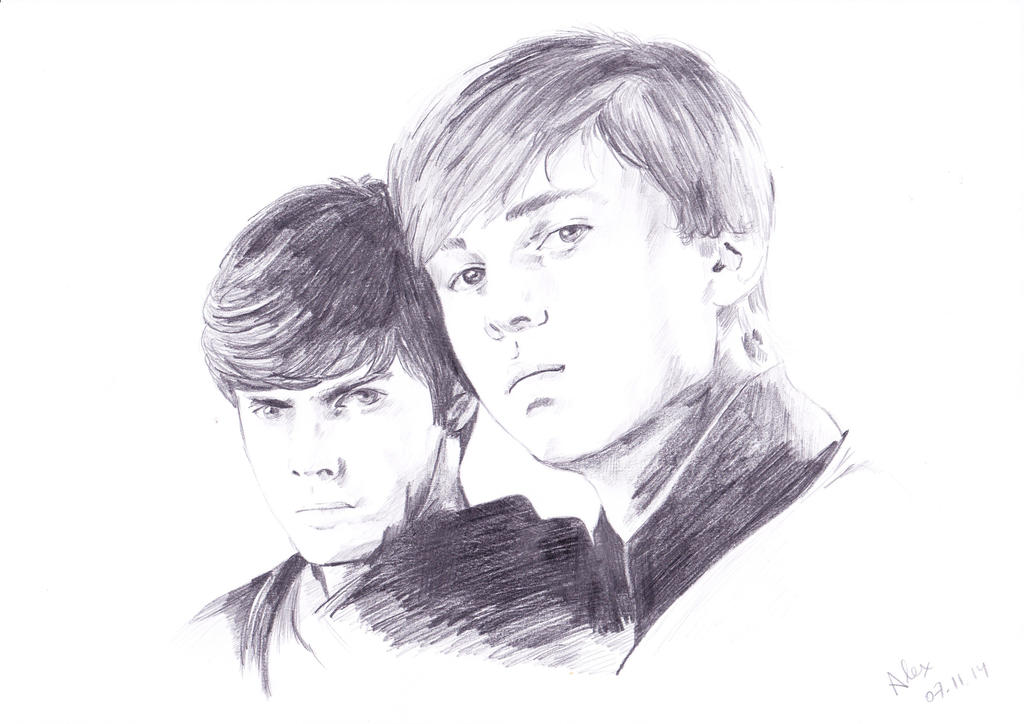 The Pevensie brothers by AlexFS10318