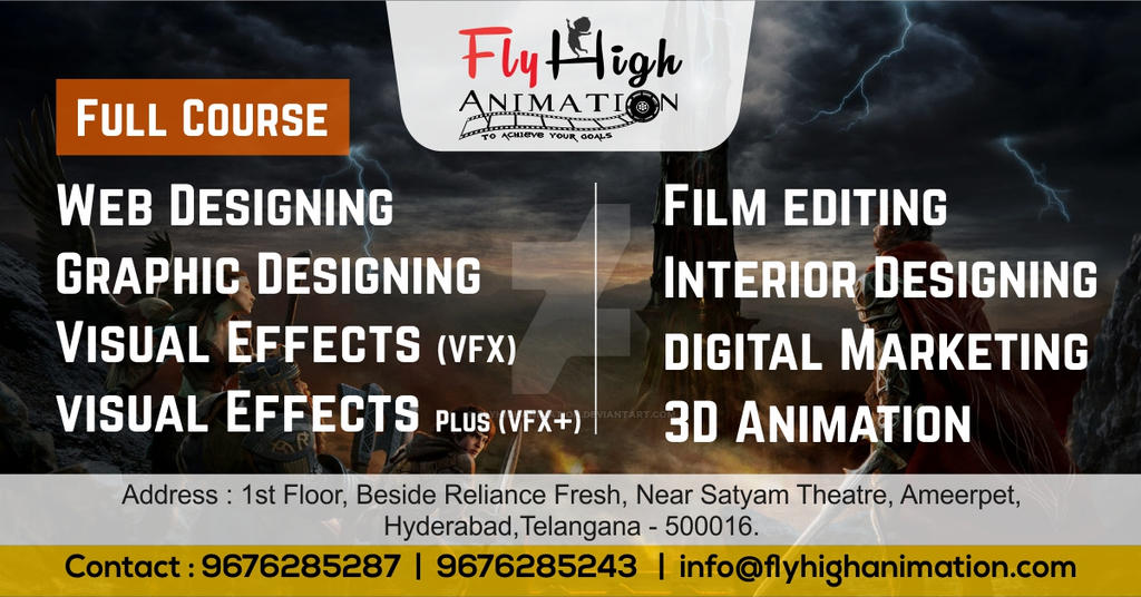 Best-animation-institute-in-hyderabad-ameerpet-fly by flyhighanimation