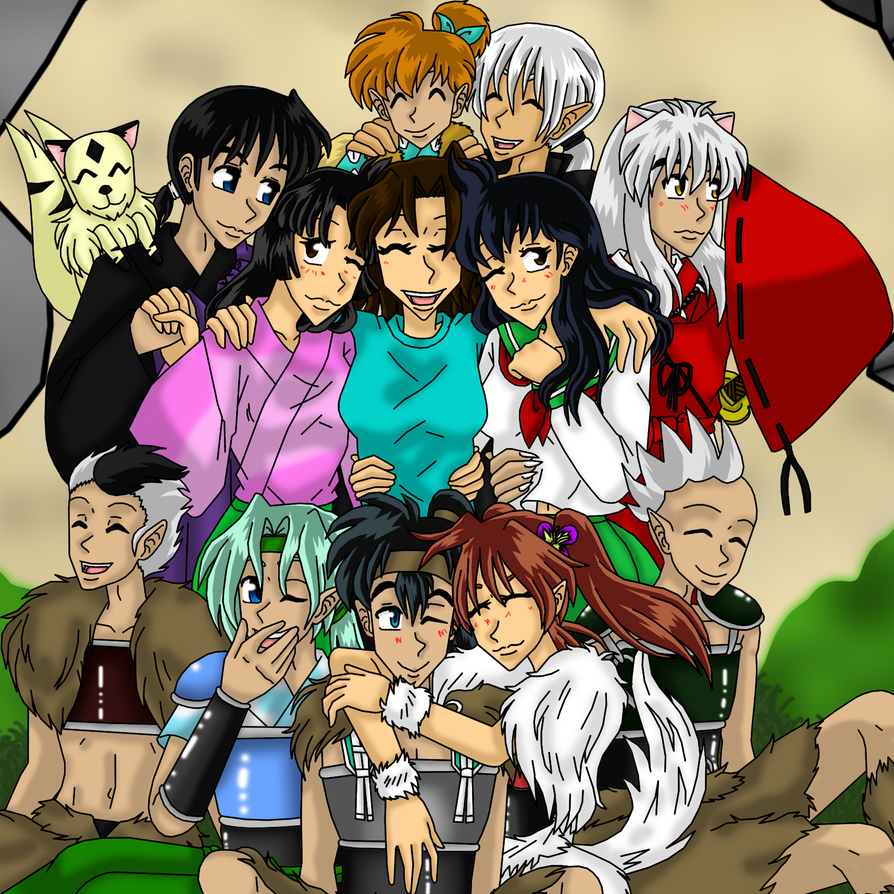 Inuyasha and the Ice Girl and Friends  by IcyRoads