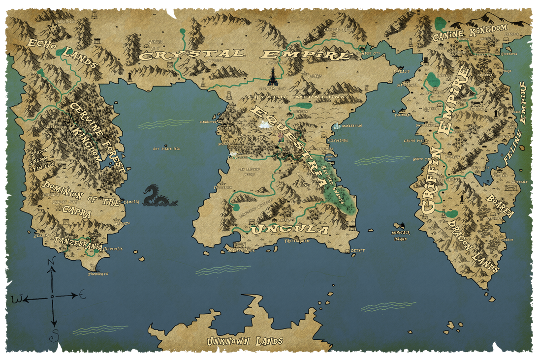 map of equestria by unoservix