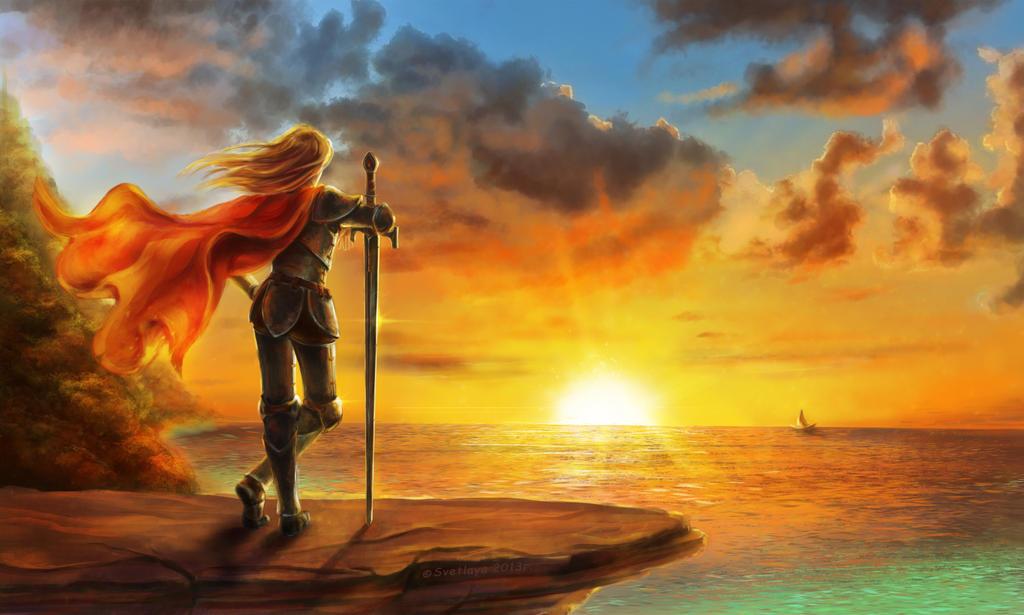 Golden rays of the sun by Svetlaya777