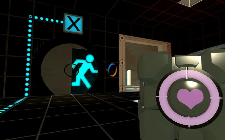 Companion Cube in Portal Two by drsteve5794