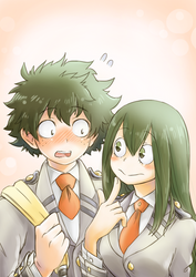 Tsuyu asks Izuku on a date by KoiHorkka