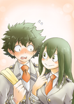 Tsuyu asks Izuku on a date