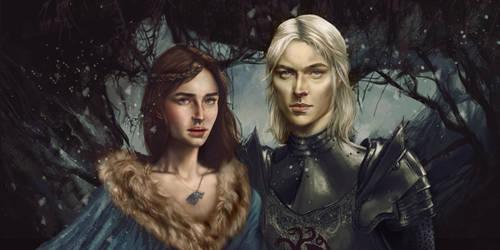 Rhaegar Targaryen and Lyanna Stark by Silvaticus